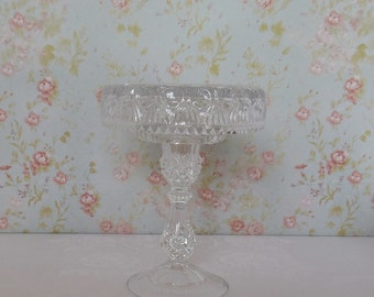 Crystal Cake Stand / 6 inch Cake stand / Vintage Pedestal Stand / Weddings / Baby Shower / Small Dessert Stand