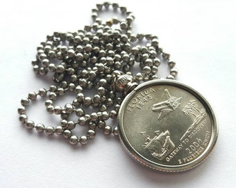 Florida State Quarter Coin Necklace with Stainless Steel Ball Chain or Key-chain - 2004