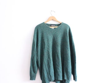 Speckled Green 90s Slouchy Sweater