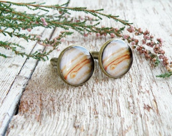 Jupiter cufflinks jewelry for men birthday gift space cuff links groomsmen gift sagittarius jewelry planet father of the bride gift for men