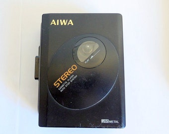 Vintage AIWA HS-P12 Stereo Casette Player- Working