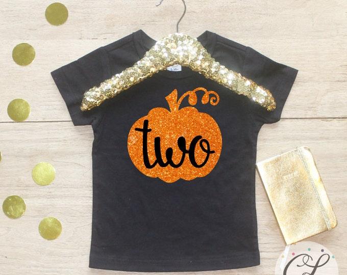 Featured listing image: Two Halloween Pumpkin Birthday Girl Shirt / T-Shirt 124