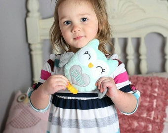 Personalized baby gifts etsy owl plushie personalized toddler gifts personalized baby gift sensory toy gift for negle Choice Image