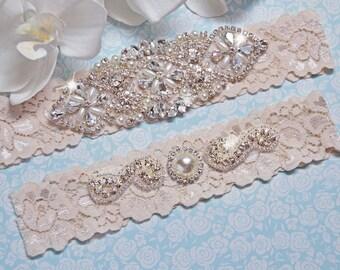 Wedding Garter, Garter Set IVORY , Bridal Garter, Ivory Lace  Wedding Garter Belt, Ivory Garter, Bridal Lingerie , Brautgürtel