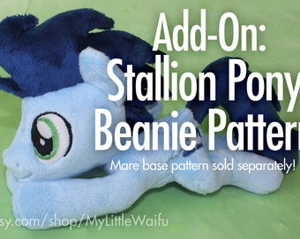 DIY Stallion Pony Plush Sewing Pattern (Add-on! Base mare pattern NOT included)