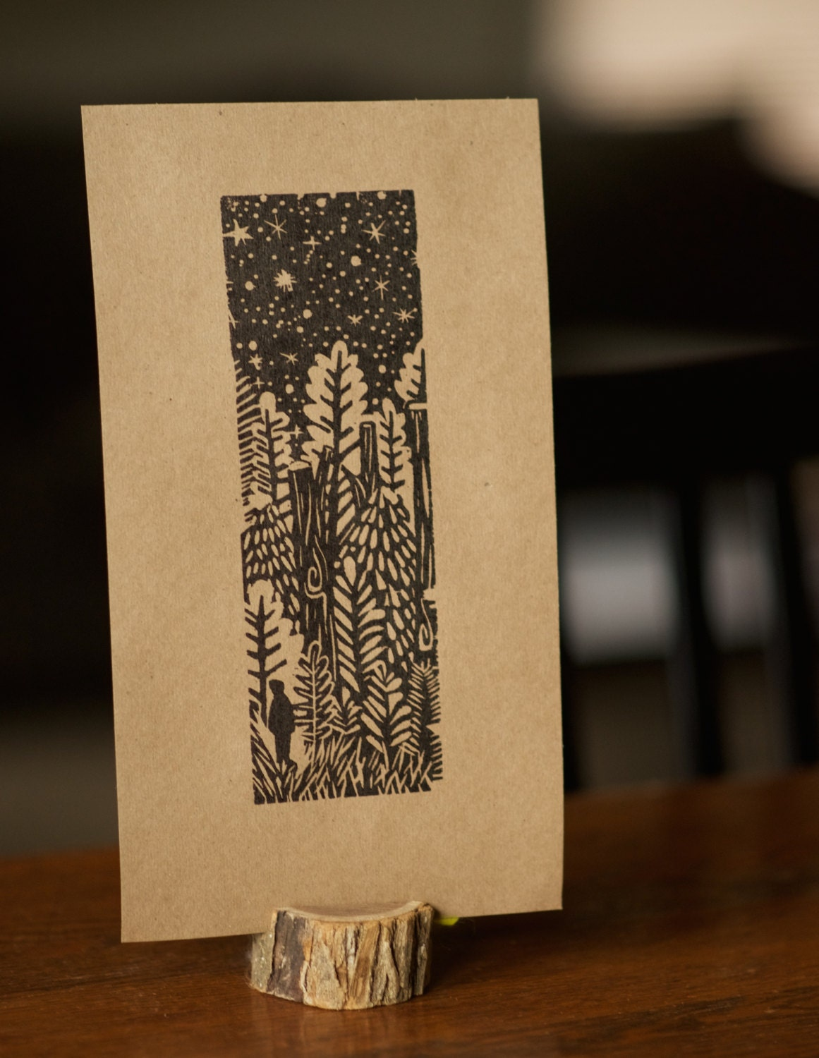Forest Print Woodcut In The Forest Mod