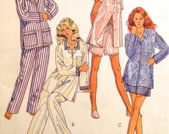 SLEEPWEAR Sewing Pattern ~ Pajamas Pants Shorts Long Short Sleeve 3 Sizes