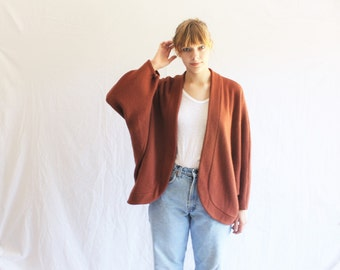 SALE vintage 70s cocoon sweater cardigan