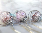 Phanthom quartz necklace, infinity necklace, orb ball globe necklace, natural melody stone, super seven inclusion gemstone, sterling silver