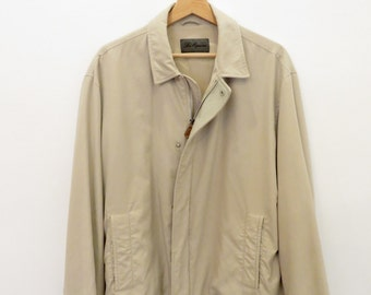 LES COPAINS vintage Beige Jacket with leather details Made in Italy size 50 (4)