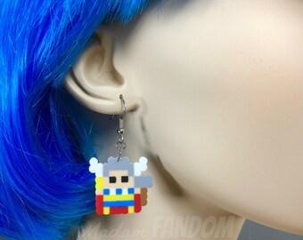 Thor Earrings Superhero Pixel Art Avengers Jewelry Comic Book Lover Earrings