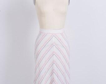 Stripe Linen Skirt