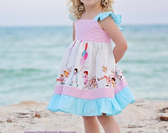 Audrey's Playdate Girls Flutter Sleeve Dress