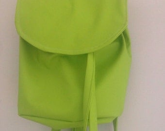Apple Tree-Apple green leather Schoolbag