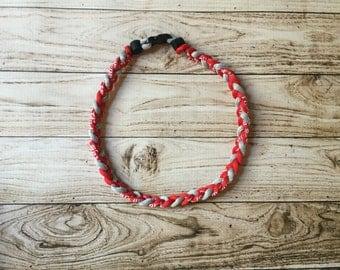 Titanium Tornado Sports necklace- Red Grey Gray Phillies Reds