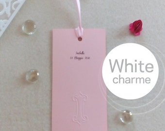 10 bookmark wedding favor Kit pink