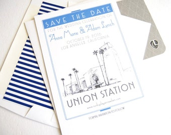 Los Angeles Union Station, Train Station, Los Angeles Save the Date Cards (set of 25 cards)