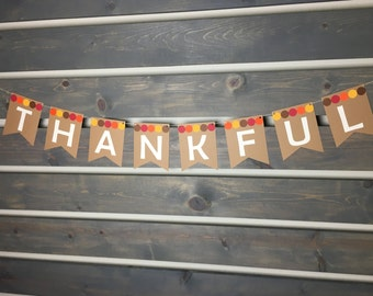 Fall Banner || Thankful Banner || Thanksgiving Banner || Fall Decor || Thanksgiving Decoration || Autumn Decor || Fall Colors