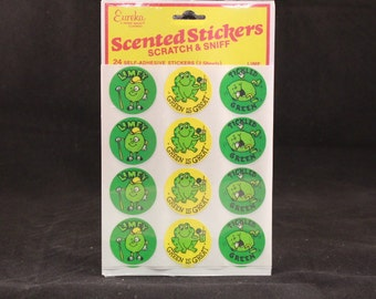 Vintage Eureka Scented Lime Scratch and Sniff Stickers. Sealed 2 Sheets