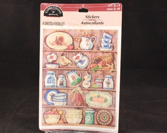 Vintage Hallmark Expressions 4 Sheet Cupboard Stickers. Sealed