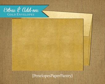 Gold Metallic Envelope Upgrade