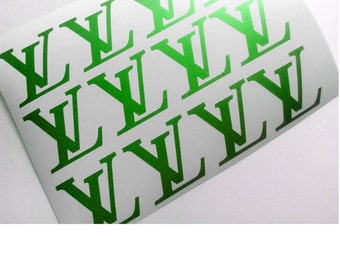 Louis Vuitton inspired decals