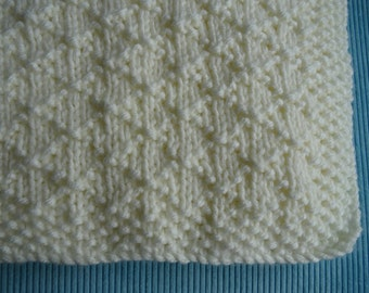 Baby blanket, hand knitted, chunky