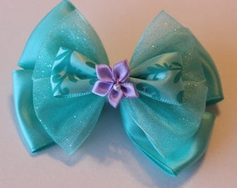 Mermaid Ariel Lagoon Inspired Bow