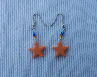 Polymer Clay Starfish Earrings