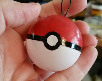 Pokeball Inspired Ornaments