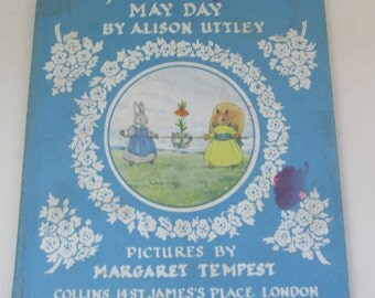 Vintage Children's Book - Grey Rabbit's May Day by Alison Uttley