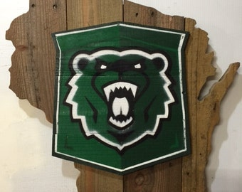 University Of Wisconsin - Parkside - RANGERS Rustic Wooden Wall Sign