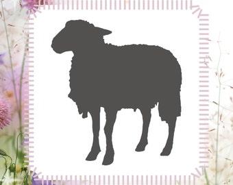 Sheep Animal Stencil Reusable Craft Stencil