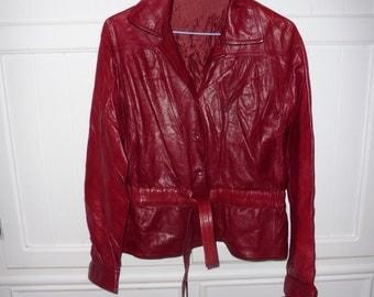 Size 38 leather jacket