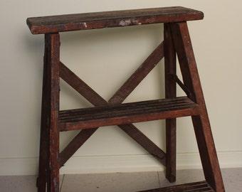 Small wood step ladder