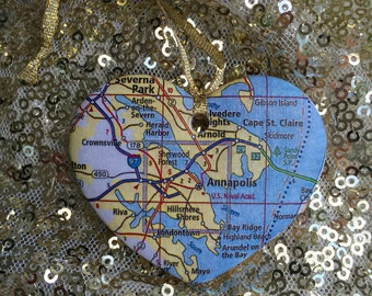 Annapolis Map Ornament