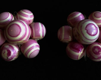 Pretty In Pink Clip On Earrings.