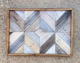 Reclaimed Wood Wall Art | whitewashed | barn wood | reclaimed | art