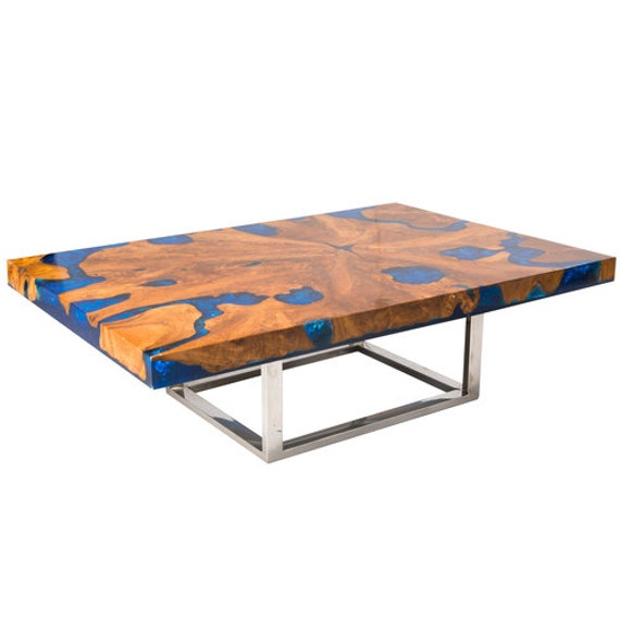 Vidaxl Coffee Table Teak Resin: Teak Root And Resin Coffee Table CR-2040