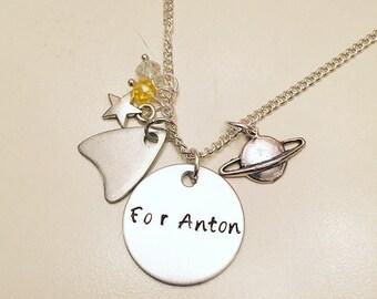 For Anton Yelchin Star Trek Beyond Jewelry Pavel Chekov Charm Necklace