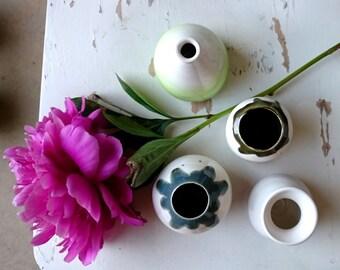 Handmade Pottery Flower Bud Vase