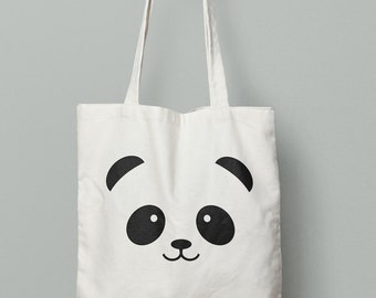 Panda Tote, Panda, Panda gift bag, panda lover, birthday gift, christmas gift, animal lover
