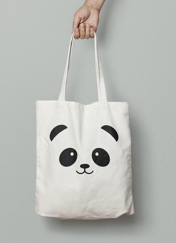 Panda Tote, Panda, Panda gift bag, panda lover, birthday gift, christmas gift, animal lover