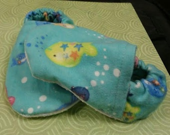 Fish baby booties/slippers/shoes
