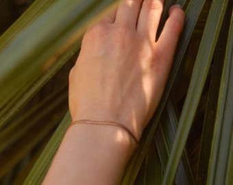 Mild Mannered Wrap Bracelet -- Simple Gold Chain Bracelet