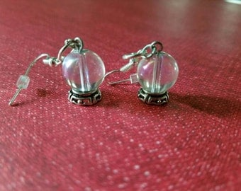 Crystal Ball Psychic Fortune Teller Earrings *Free Shipping*