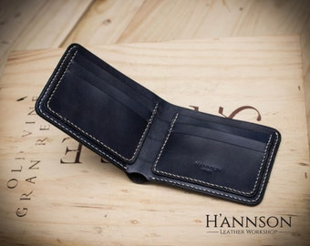 Handcrafted leather wallet Handstiched vegetable tanned customize colors
