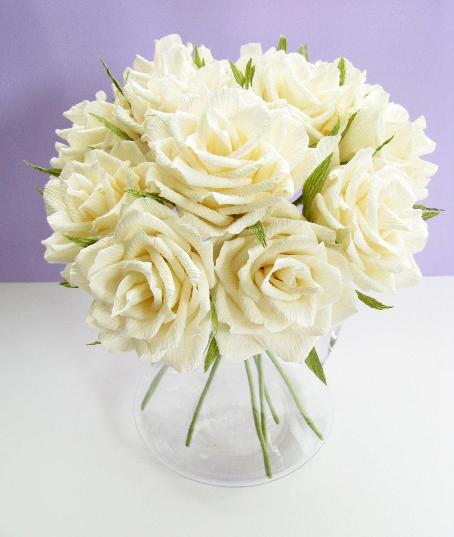 Paper flower wediing flowers, Crepe paper flower, Paper roses ...