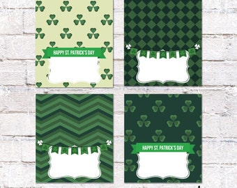 4 St. Patrick's Day Party Food Tent Cards. St. Patrick's Day Place Cards. Party Supplies. *INSTANT DOWNLOAD*