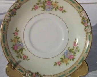 Noritake china saucer, *Alicia* pattern